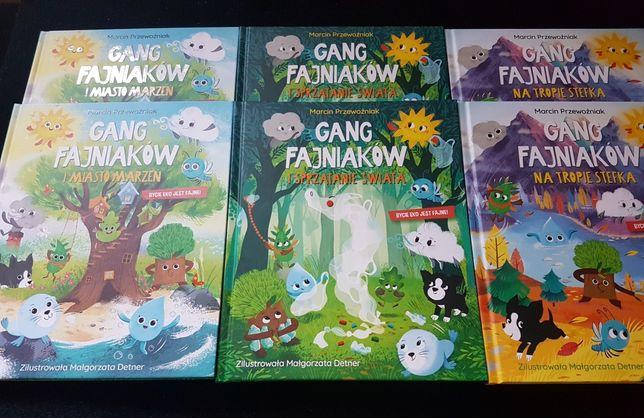 Książki Gang Fajniaków cały komplet + ważka Wiola