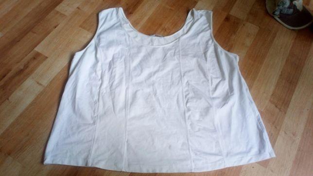 Biala bluzka szer ramiączka ulla poppkin 52/54