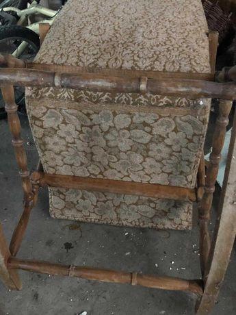 stary fotel bujany do renowacji