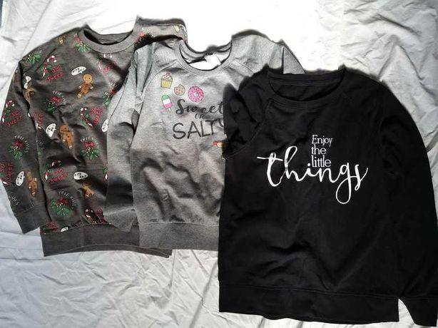 Zestaw 3 bluz młodzieżowych/damskich