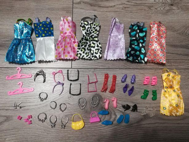 41 sztuk zestaw ubrań i gadżetów dla lalki Barbie i nie tylko