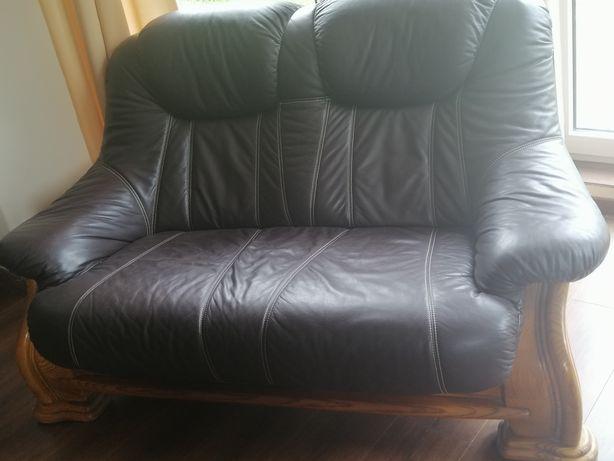 Sofa 2 osobiwa skóra dąb