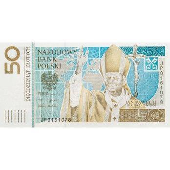 50 zł Jan Paweł II - banknot kolekcjonerski