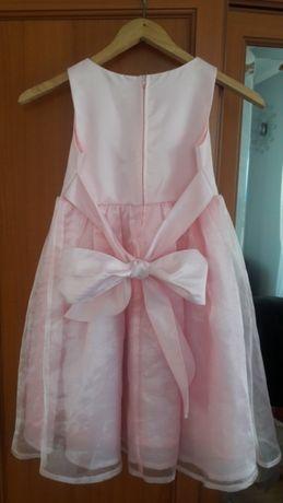 Śliczna sukienka elegancka róż tiul 6lat
