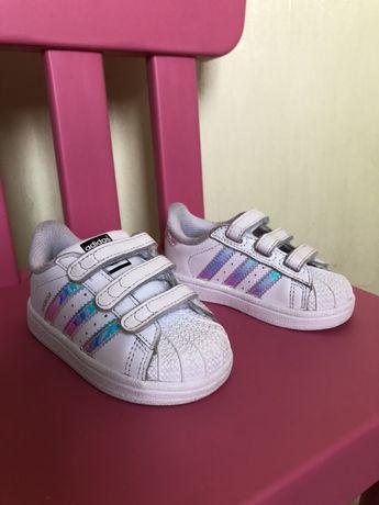 Adidas superstar кроссовки для девочки, 21 р