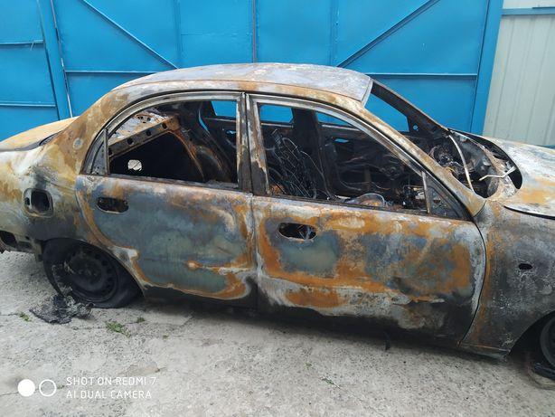 Деу- Ланос дтп после пожара
