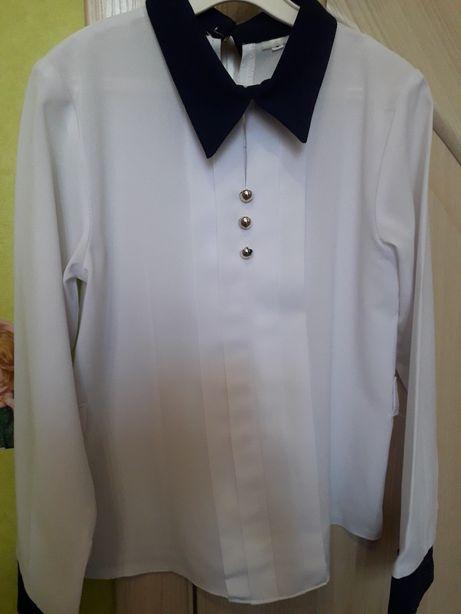 Нарядная белая рубашка на девочку