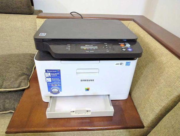 Цветной МФУ (принтер + сканер + копир) Samsung SL-C460W (NFC, Wi-Fi)