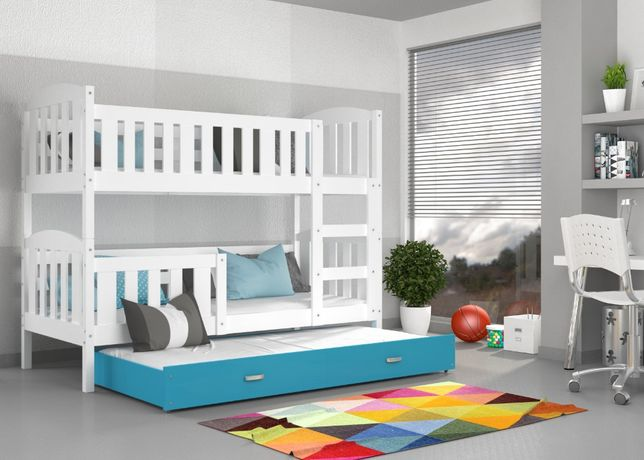 Łóżko piętrowe KUBUŚ 3 190x80! Materace w cenie ! NOWOŚĆ !
