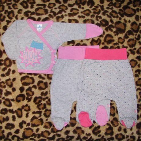 """Комплект распашонка и ползунки для новорожденного Minikin """"Кошка"""""""