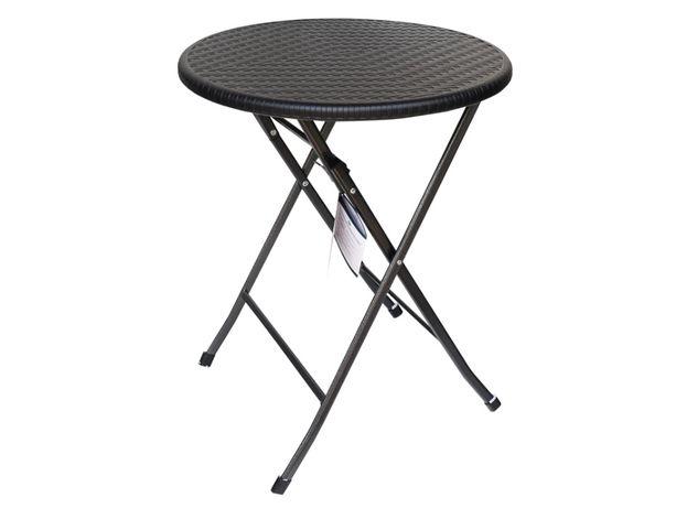 Stolik kawowy składany techno RATTAN na balkon, taras