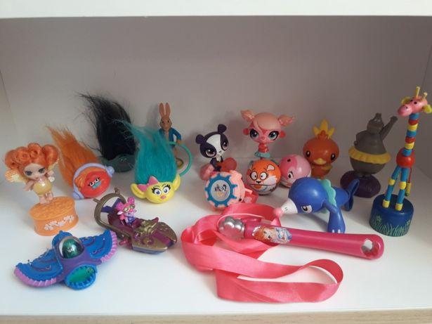 Zestaw dla dziewczynki, pet shop, my littl pony, trolle figurki