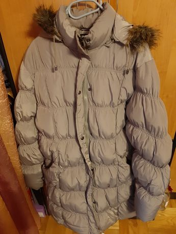 Zimowa, długa kurtka pikowana XXL