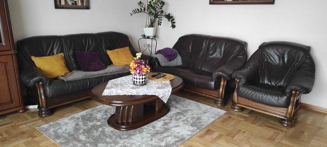 Skórzany wypoczynek kanapa fotel