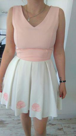 Piekna sukienka rozkloszowana komunia wesele