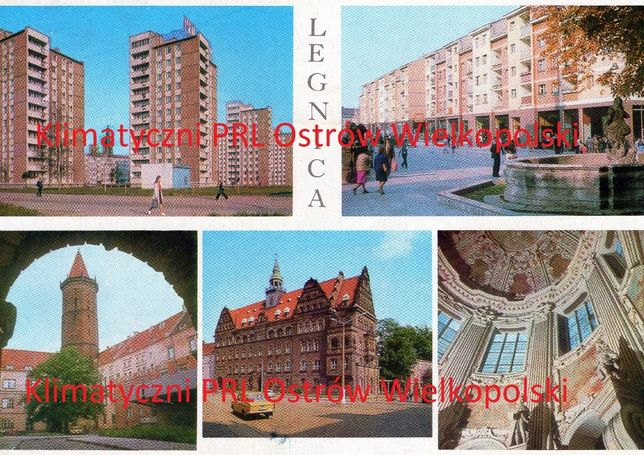 Pocztówka Legnica wysłana do Kalisza lata 80-te znaczek