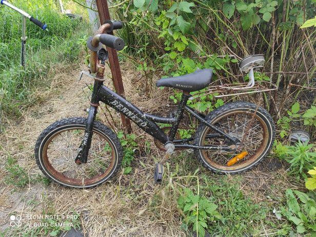 """Велосипед benetto колеса на 16"""""""