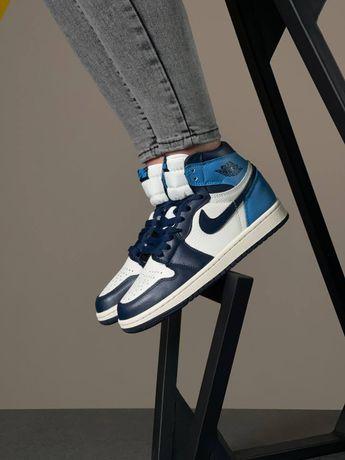 Женские кроссовки Nike Air Jordan 1 Retro High! 36-40! Кожа! Хит цена!
