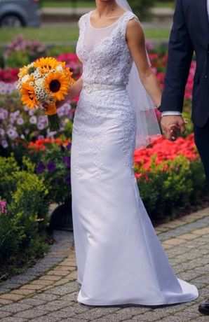 Dwie w jednej suknia ślubna trzyczęściowa