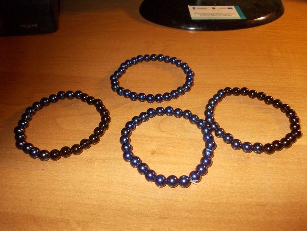 Branzoletki Czarne ,Granat