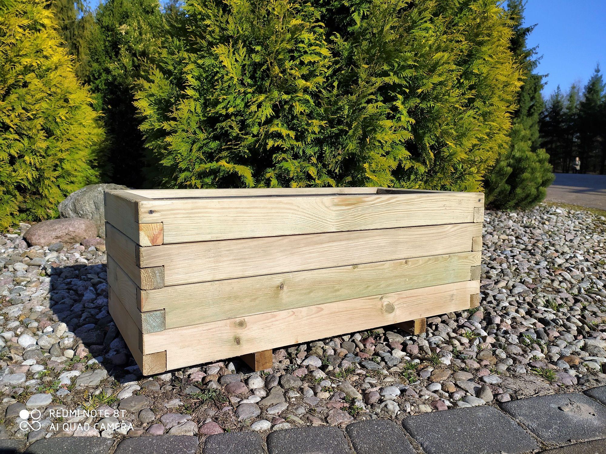 Donica drewniana skrzynia z drewna doniczka 80x40 HIT!!! KURIER