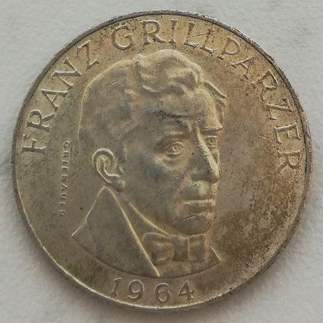 Austria 25 Schilling FRANZ GRILLPARZER srebro 0.800 25 szylingów 1964
