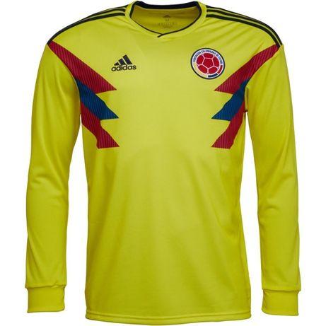 Koszulka Kolumbia Adidas Długi rękaw koszulka piłkarska i inne