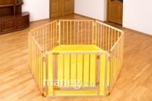 Манеж ограждение 6 секций с дверцей и мягким ковриком Винница - изображение 1