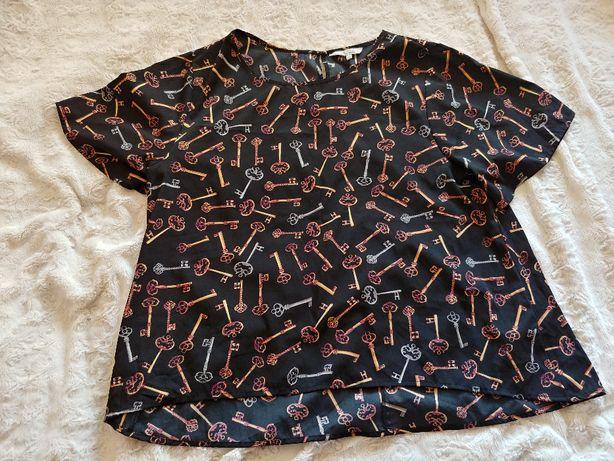 Peacocks wzorzysta bluzka rozmiar 46