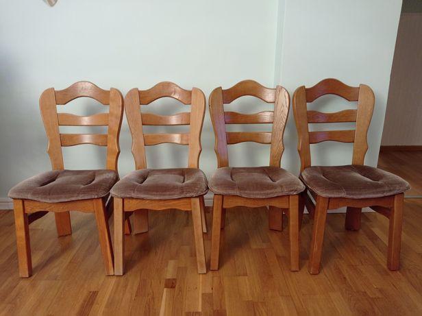 Krzesła dębowe 4 sztuki