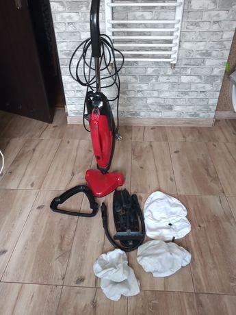 Mop parowy z osprzętem i kompletem nakładek wielokrotnego użytku