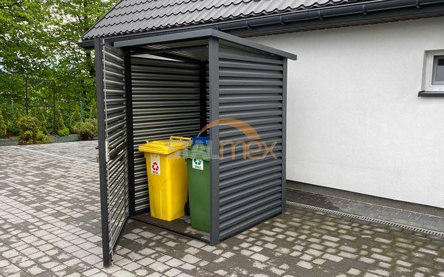 Nowoczesny eko box na śmieci/wiata śmietnikowa/schowek ogrodowy