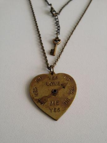Fio colar coração romântico Love Me Yes No