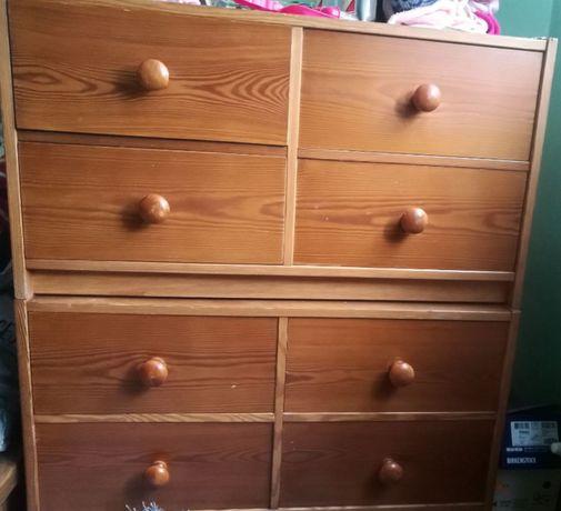 Szafki półki komoda łóżko piętrowe łóżeczko niemowlęce regał drewniany
