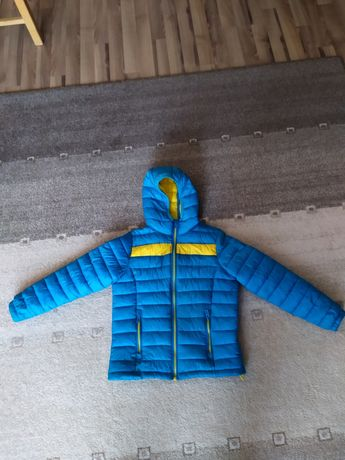 Kurtka jesienna niebiesko-żółta r. 134