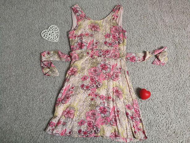 Śliczna sukienka h&m 42 M/L - może być ciążowa