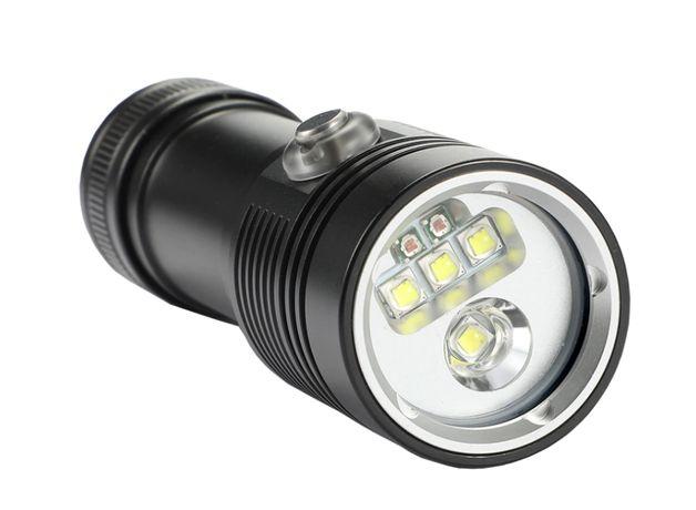 latarka nurkowa foto- video 4 XM-L2 + 2 XPE