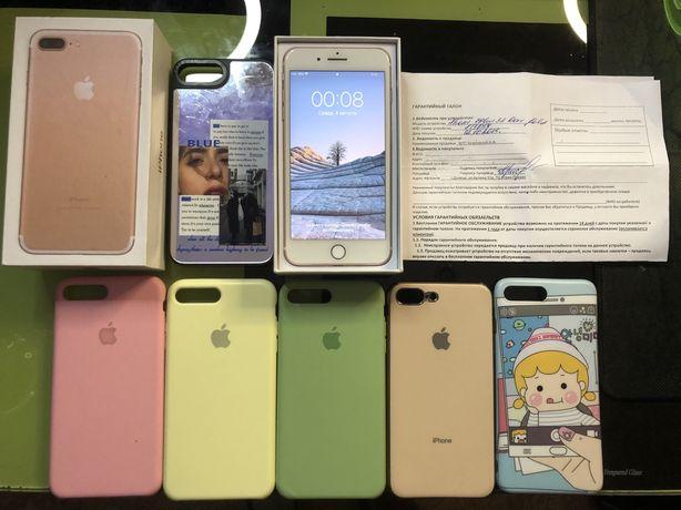 Iphone 7+ 32gb (6 чехлов в подарок)