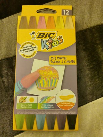 Vende-se lápis de cera flexíveis Bic Kids oil pastel. Embalagem nova