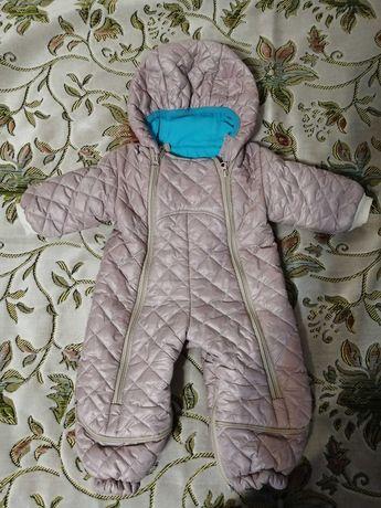 Комбінезон демі комбинезон для хлопчика мальчика 0-12 міс + рукавички