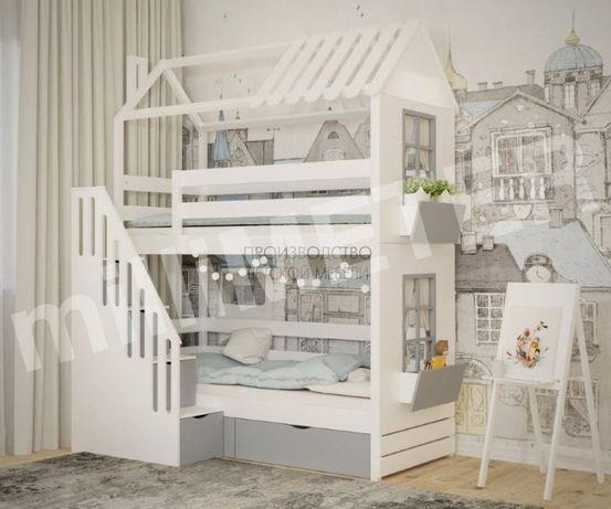 двухъярусная кровать Стефания, двоповерхове ліжко, кровать домик