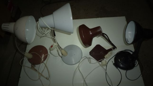 Stare lampki na biurko PRL szt 4