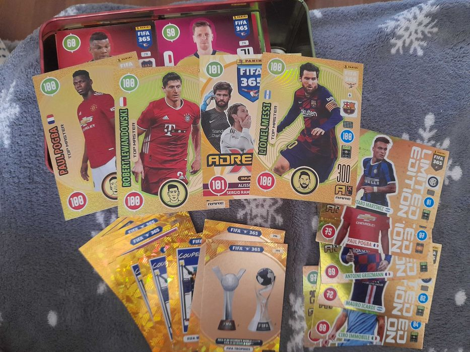 Fifa panini 365 21 Lewandowski Messi 400 kart Sosnowiec - image 1