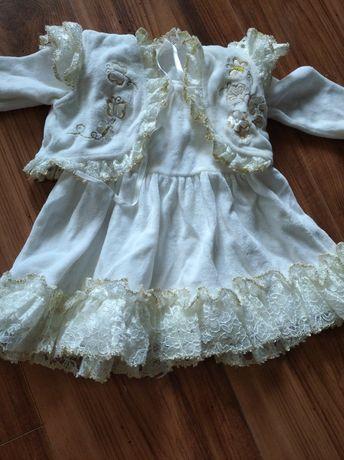 Крестильное платье  теплое