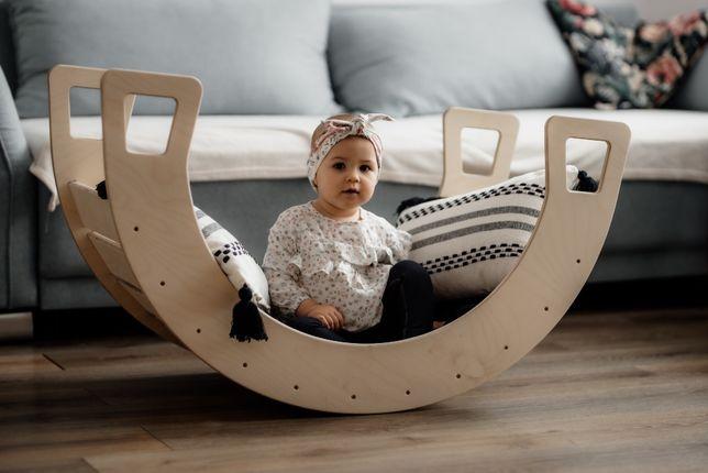 Bujak dla dzieci kołyska mostek do zabawy drabinka domek Montessori