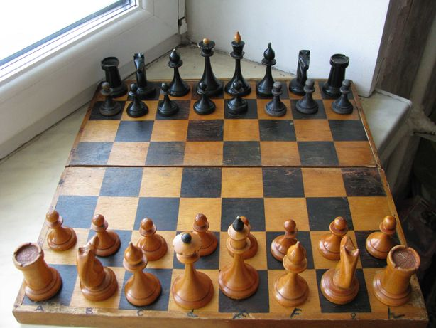 Настольная игра Шахматы Дерево СССР 1961 в коробке
