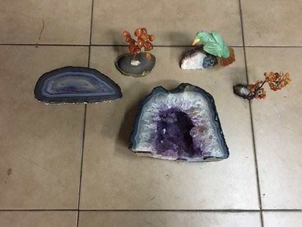 Lote Estatuetas pedra Brasil