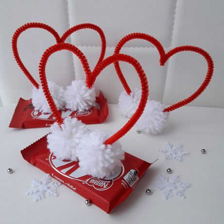 Именная валентинка+Kit kat, букет из конфет, 14 февраля, сердце