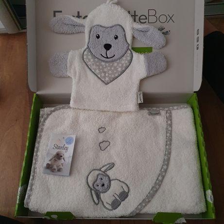 Ręcznik niemowlecy  +myjka nowe