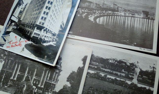 4 postais antigos do Brasil